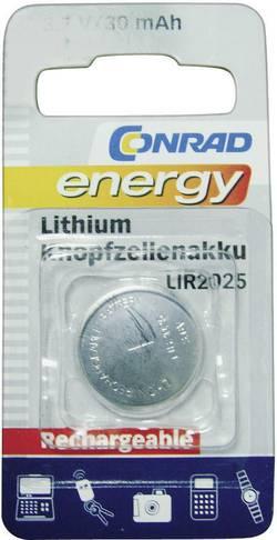 Laddbart batteri Knappcell LIR 2025 Litium Conrad energy LIR2025 30 mAh 3.6 V 1 st