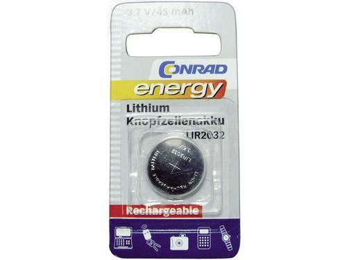 Conrad energy LIR2032 Oplaadbare knoopcel LIR2032 Lithium 45 mAh 3.6 V 1 stuks