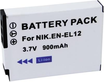 Image of Camera battery Conrad energy replaces original battery EN-EL12 3.7 V