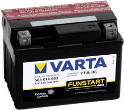 VARTA Akumulator za motorna kolesa YT4L-4 / -B5 503014003 12 V 3 Ah Y5 za motorna kolesa, štirikolesnike, Jet Ski, motorne sani