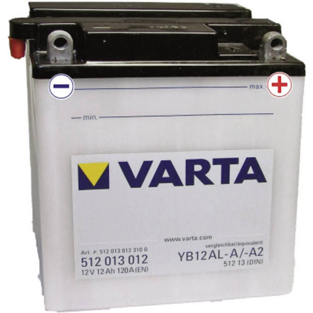 VARTA Akumulator za motorna kolesa YB12AL-A2 512013012 12 V 12 Ah Y6 za motorna kolesa, skuterje, štirikolesnike, Jet Ski, motor