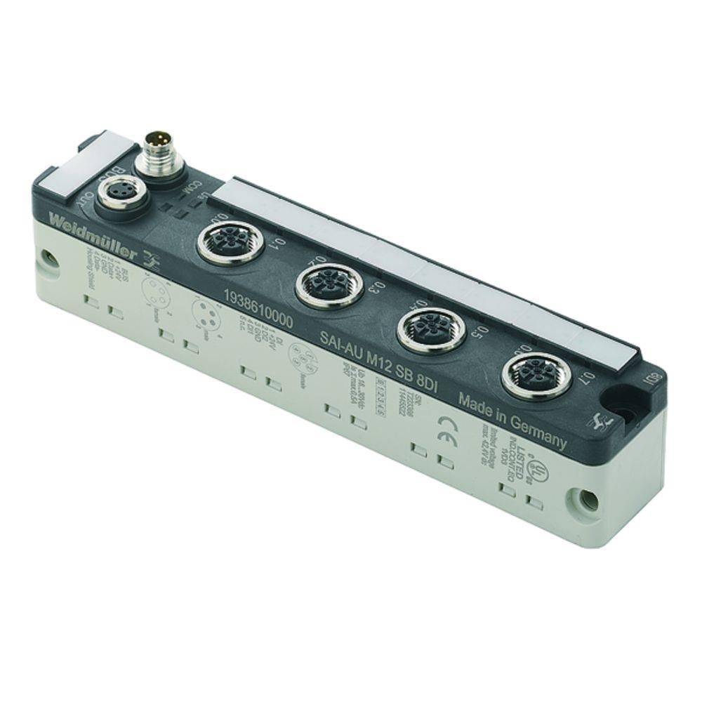 Sensor/Aktorbox aktiv M12-fordeler med metalgevind SAI-AU M12 SB 8DI 1938610000 Weidmüller 1 stk