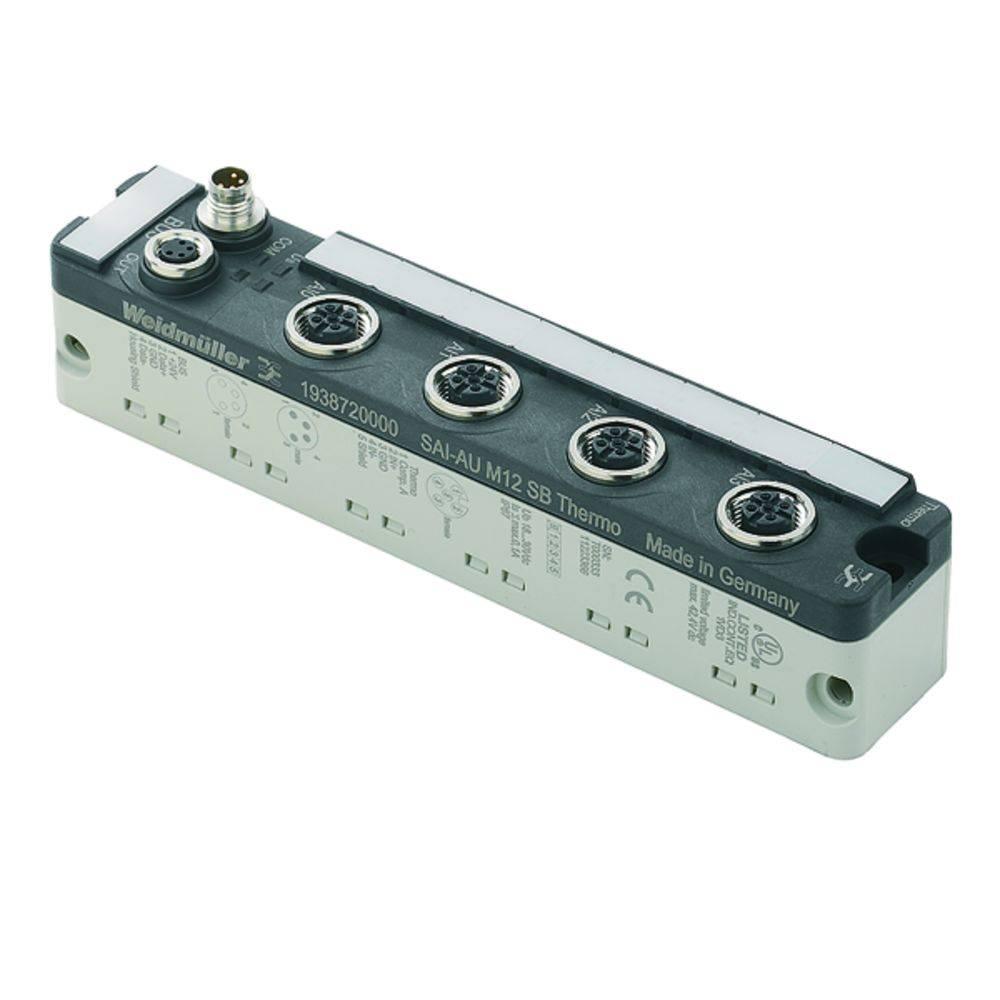 Sensor/Aktorbox aktiv M12-fordeler med metalgevind SAI-AU M12 SB 4THERMO 1938720000 Weidmüller 1 stk