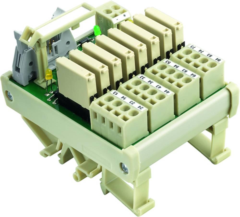Tiskano vezje za rele, opremljeno 1 kos Weidmüller RS F10 8R OUT 24VDC 1 x preklopni 24 V/DC