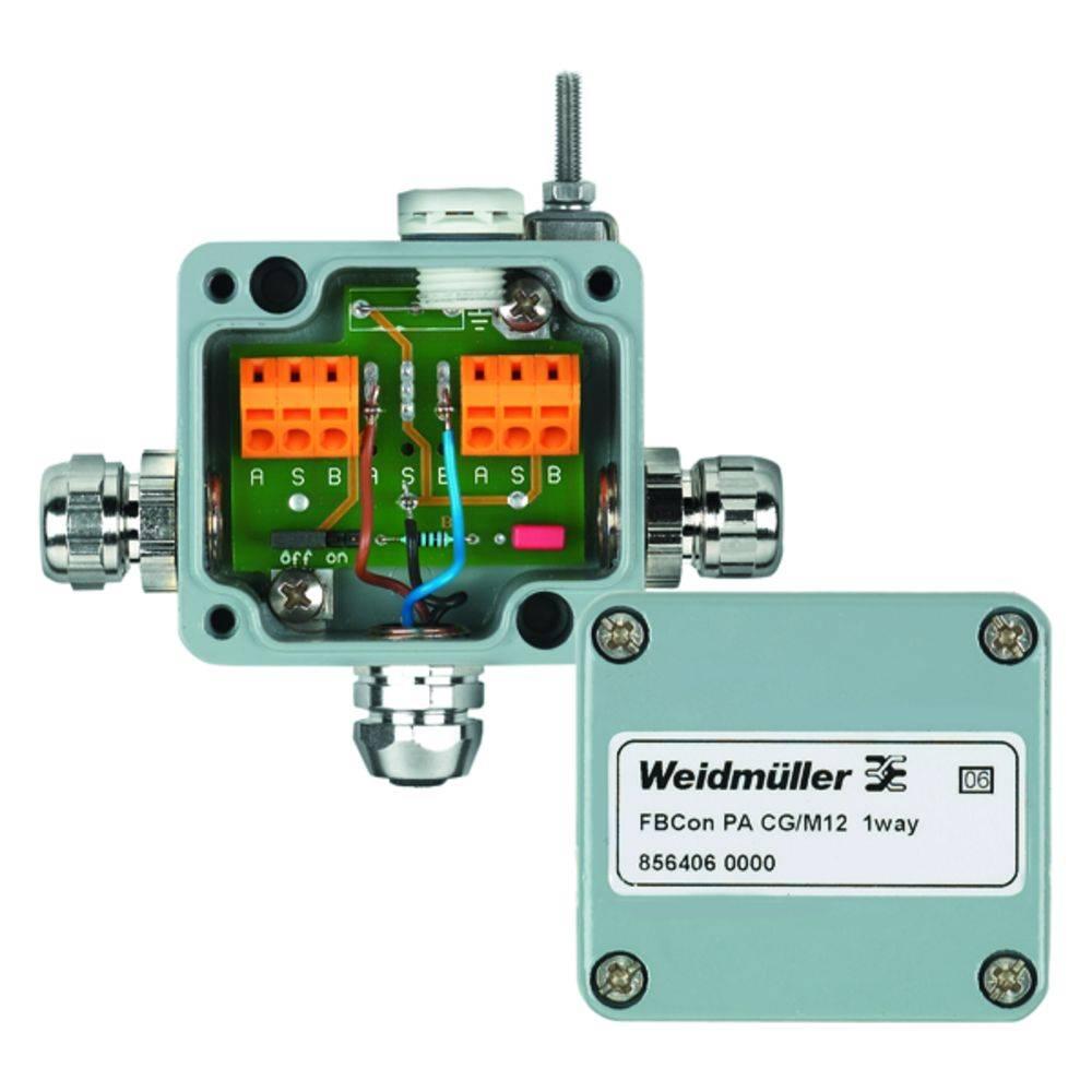 Standardni razdelilnik FBCON PA CG/M12 1WAY Weidmüller vsebuje: 1 kos
