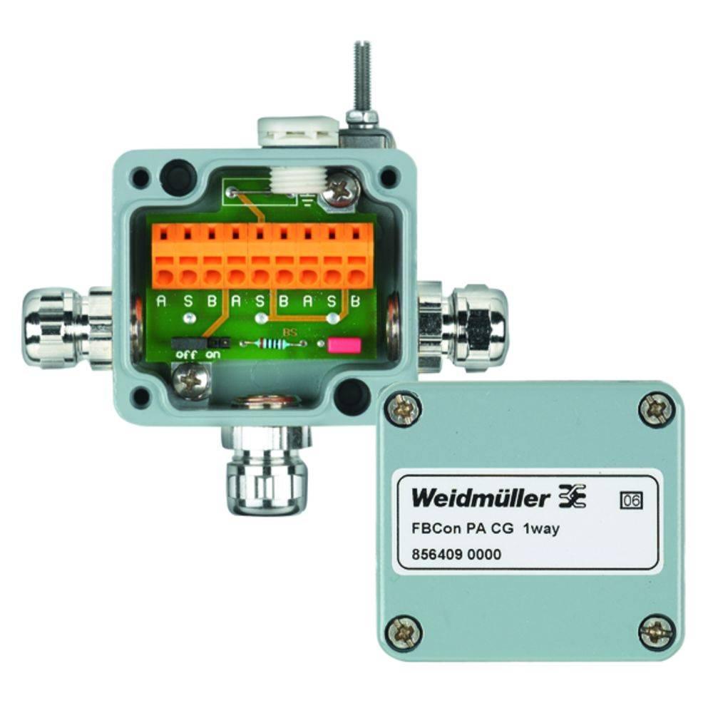 Standardni razdelilnik brez bus priključka FBCON SS DP M12 1WAY Weidmüller vsebuje: 1 kos