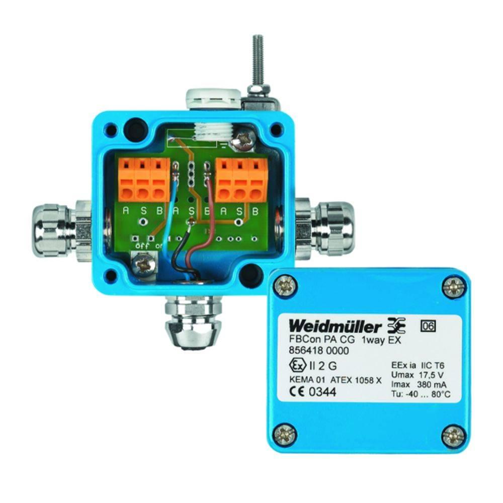Sensor/aktorbox passiv PROFIBUS-PA standardfordeler EEx(ia) FBCON PA CG/M12 1WAY EX 8564150000 Weidmüller 1 stk