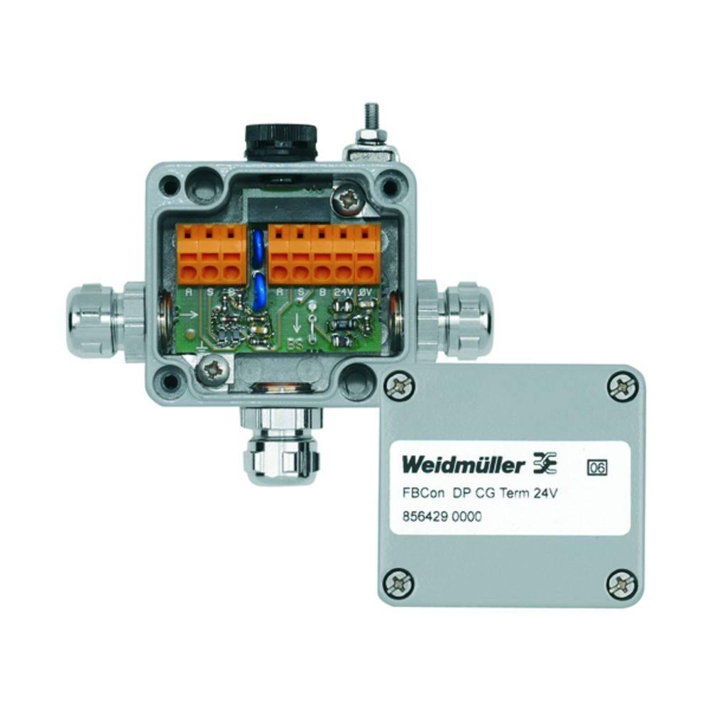 Standardni razdelilnik z bus priključkom(aktivnim) FBCON DP CG TERM 24V Weidmüller vsebuje: 1 kos