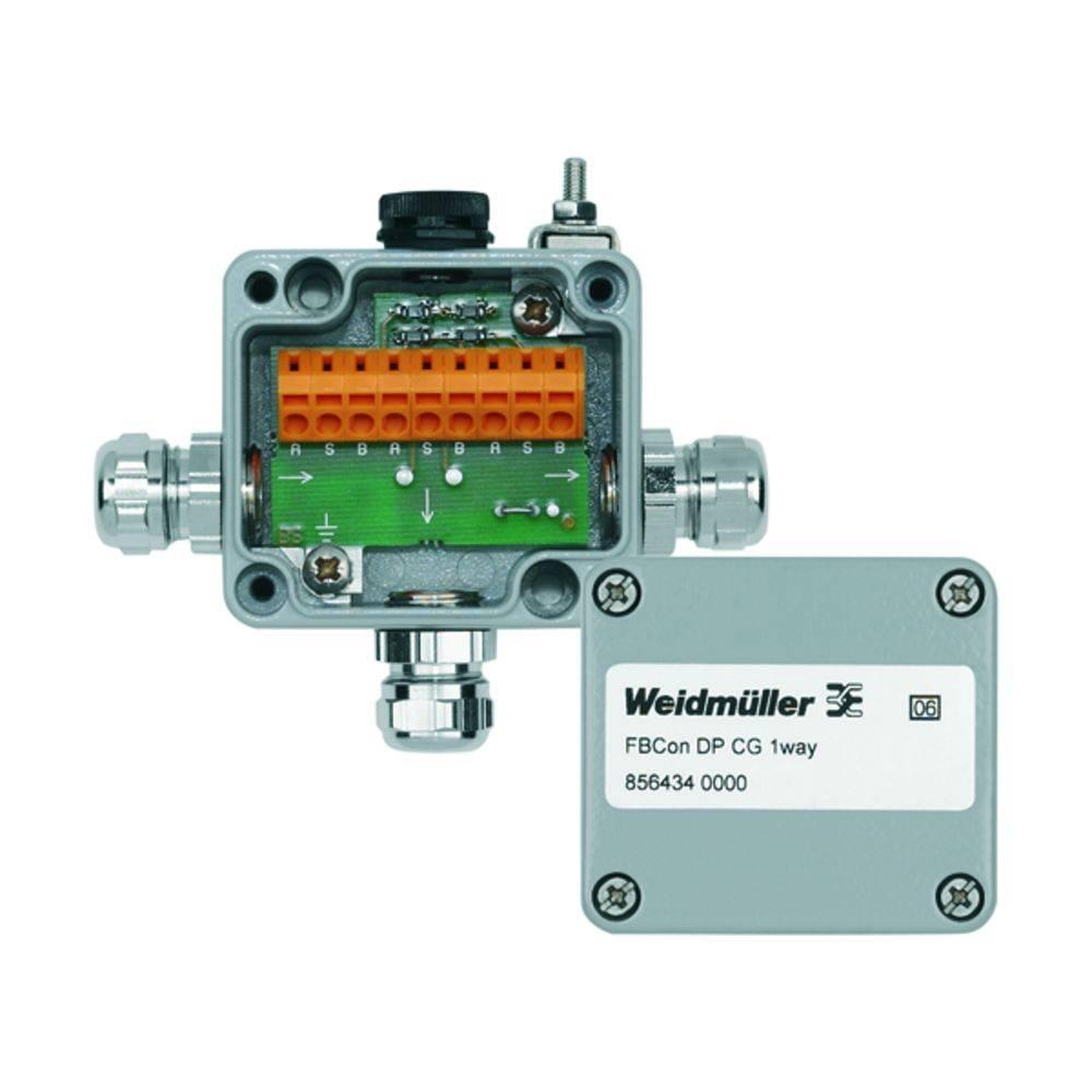 Sensor/aktorbox passiv PROFIBUS-DP standardfordeler med bus-lukke FBCON DP CG 1WAY 8564340000 Weidmüller 1 stk