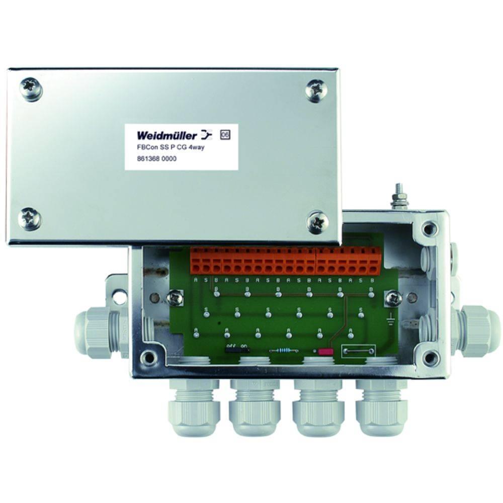 Standardni razdelilnik FBCON SS PCG 4WAY Weidmüller vsebuje: 1 kos