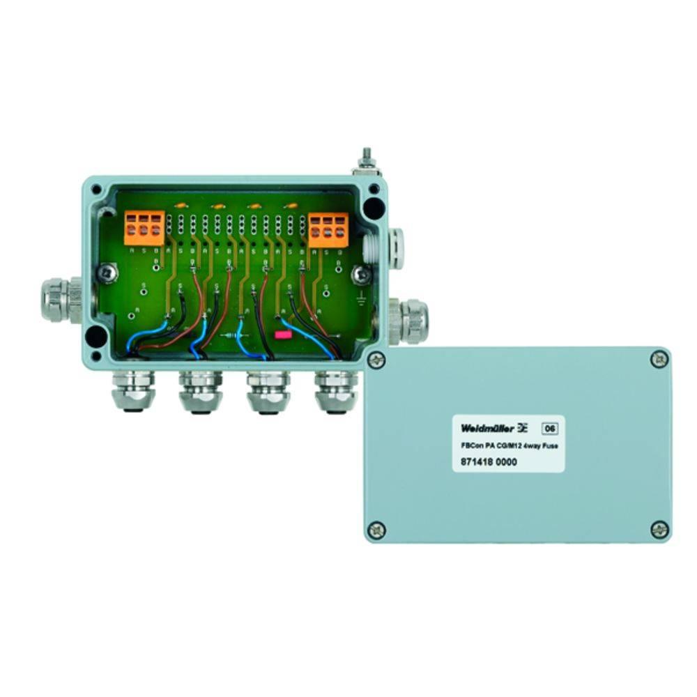 Sensor/aktorbox passiv PROFIBUS-PA standardfordeler med strømbegrænsning FBCON PA CG/M12 4WAY LIMITER 8714180000 Weidmüller 1 st