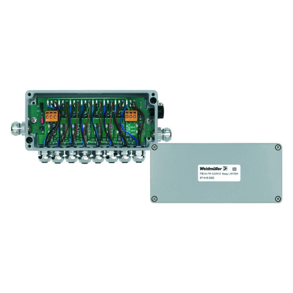 Sensor/aktorbox passiv PROFIBUS-PA standardfordeler med strømbegrænsning FBCON PA CG/M12 8WAY LIMITER 8714190000 Weidmüller 1 st