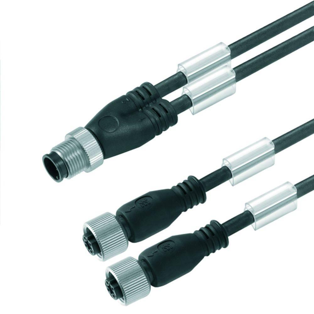 Povezovalni kabel SAIL-ZW-M8BG-3-0.3U Weidmüller vsebuje: 1 kos