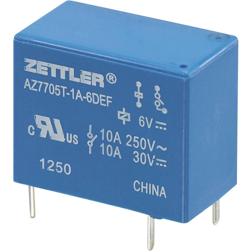 Miniaturni močnostni rele AZ7705, 5 A Zettler Electronics AZ7705T-1A-12DEF 12 V/DC 1 zapiralo maks. 5 A maks. 30 V/DC/265