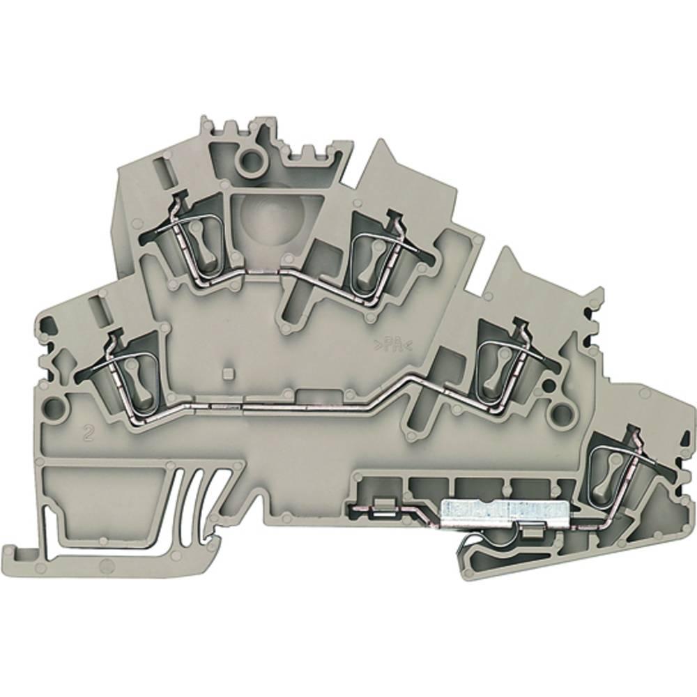 Dobbelt-niveau rækkeklemme, beskyttelsesleder klemrække Weidmüller ZDKPE 2.5-2 DB+BR BED OR 1938330000 50 stk