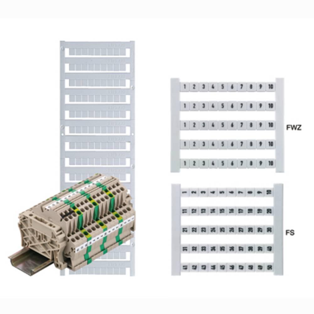 Terminal markører DEK 6 FW 151-200 0468660151 Hvid Weidmüller 500 stk