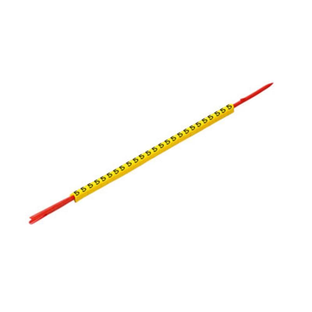 Mærkningsring Weidmüller CLI R 02-3 GE/SW L 0560001660 Gul 250 stk