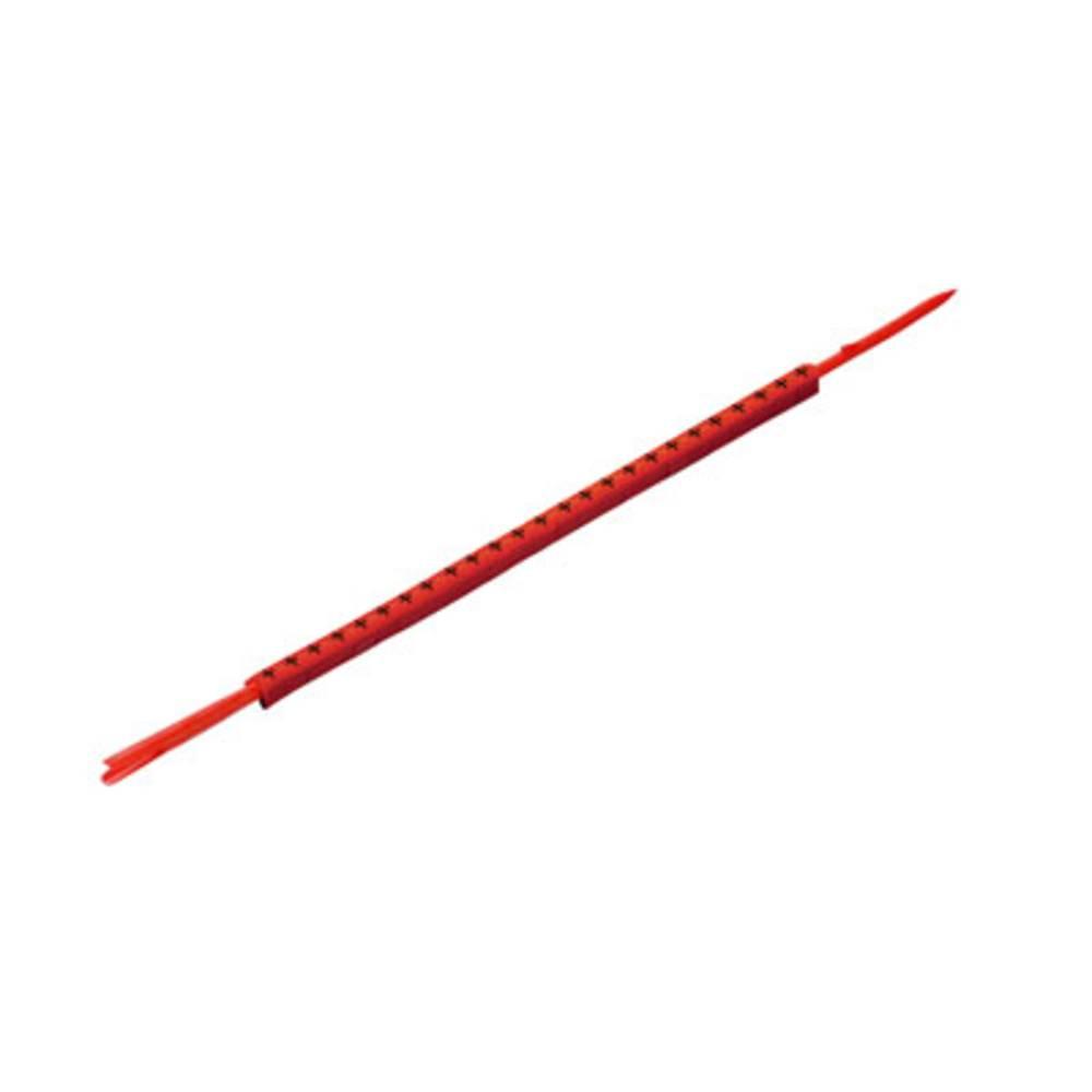 Mærkningsring Weidmüller CLI R 02-3 RT/SW + 0560001739 Rød 250 stk