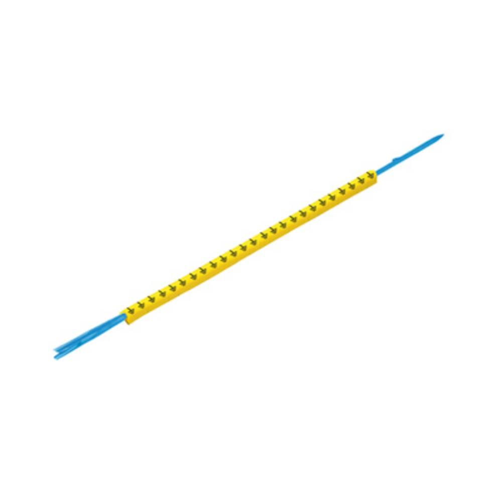 Mærkningsring Weidmüller CLI R 1-3 GE/SW 9 0572901530 Gul 250 stk