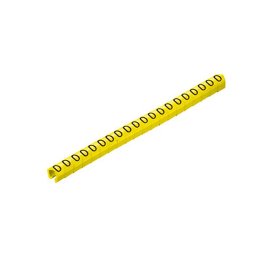 Mærkningsclip Weidmüller CLI O 20-3 GE/SW 0 MP 0648101502 Gul 200 stk