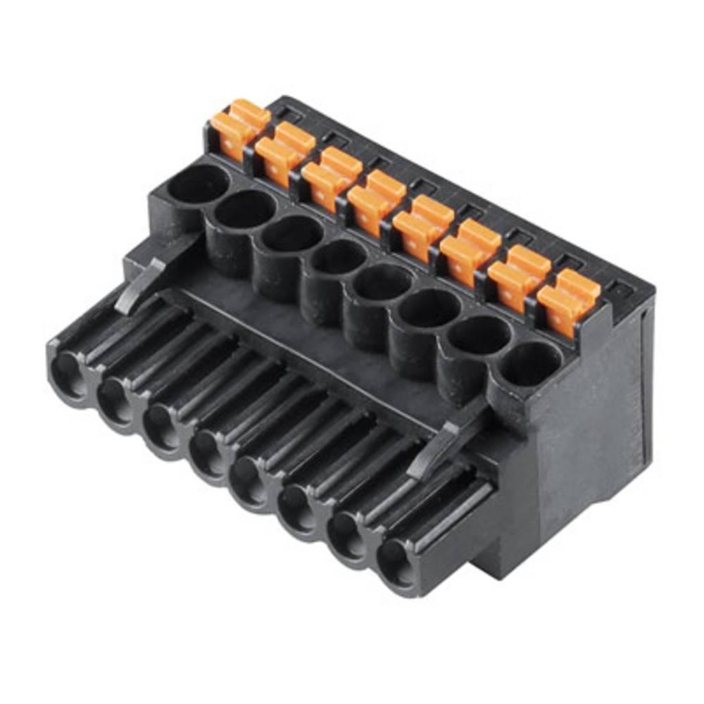 Vtični konektor za tiskana vezja črne barve Weidmüller 1000050001 vsebuje: 90 kosov
