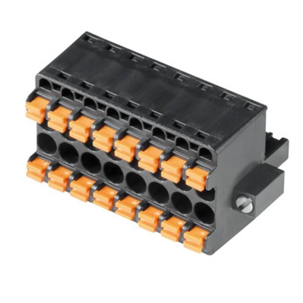 Vtični konektor za tiskana vezja oranžne barve Weidmüller 1065110000 vsebuje: 24 kosi