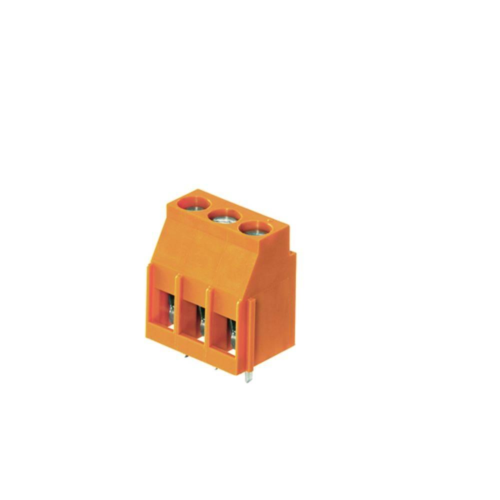 Skrueklemmeblok Weidmüller LL 5.00/06/90 3.2SN OR BX 4.00 mm² Poltal 6 Orange 50 stk