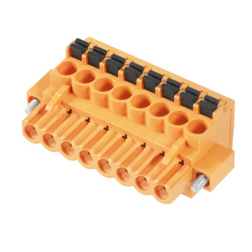 Vtični konektor za tiskana vezja oranžne barve Weidmüller 1002240000 vsebuje: 18 kosov