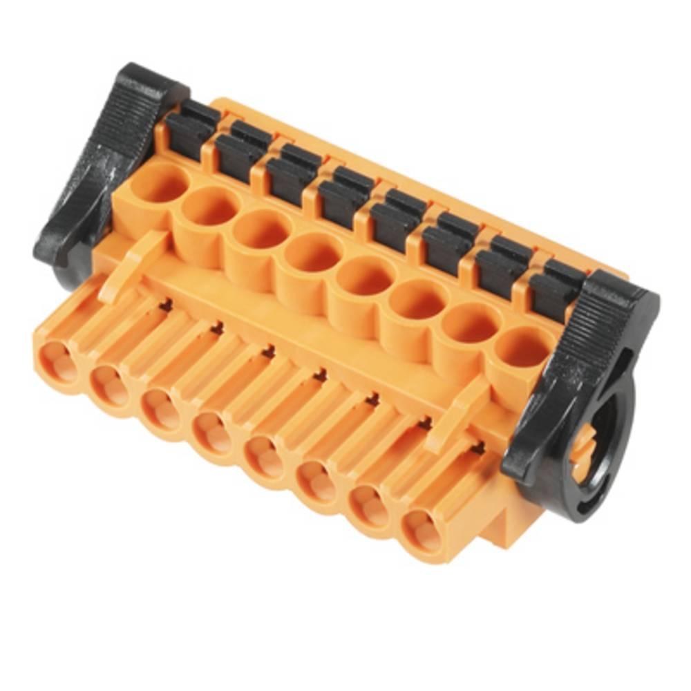 Vtični konektor za tiskana vezja oranžne barve Weidmüller 1002410000 vsebuje: 18 kosov