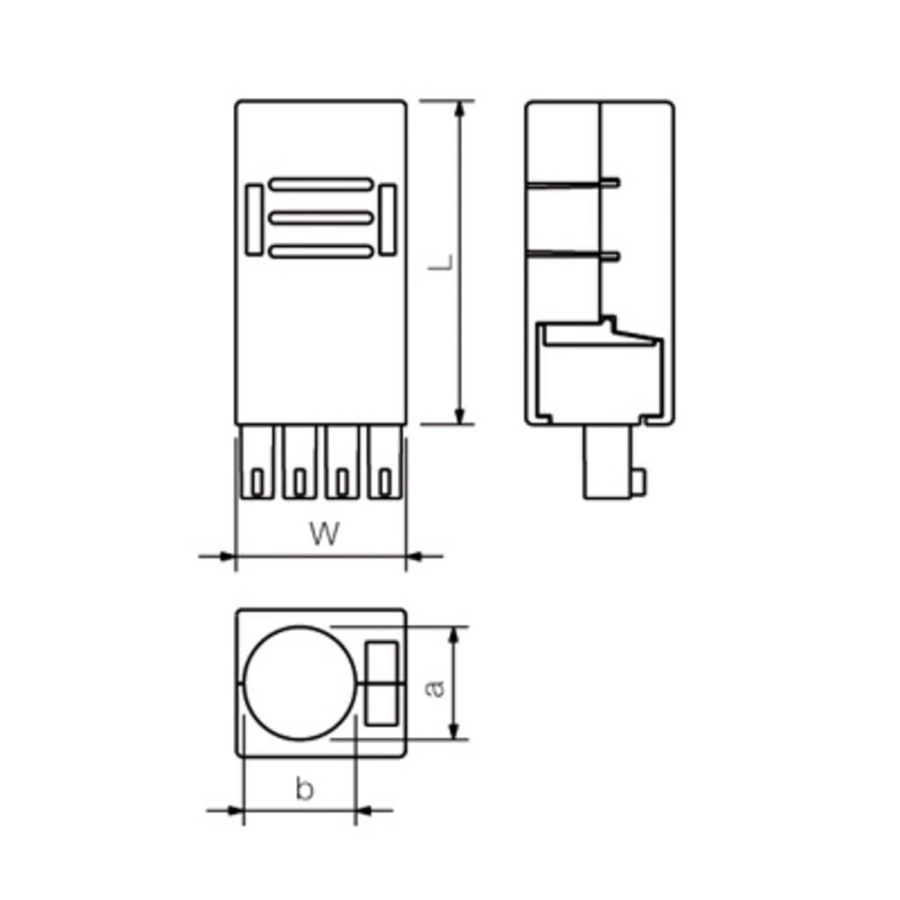 PCB-stik Weidmüller BCZ 3.81 AH06 10 stk