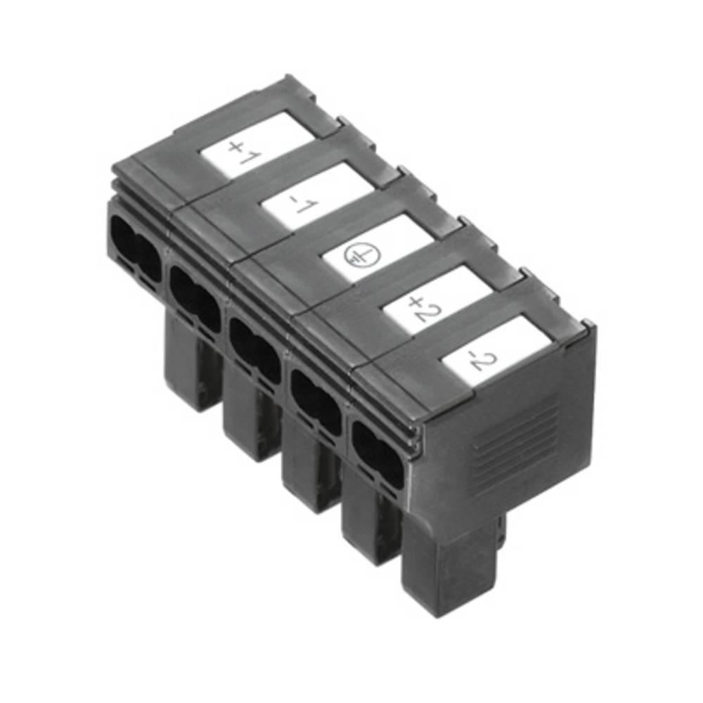 Varnostni vtični priključek, prilagodljVarnostni viv: 0.5-4 mm toga: 0.5-4 mm št. polov: 5 Weidmüller PTDS 4 DC 10 kos črna