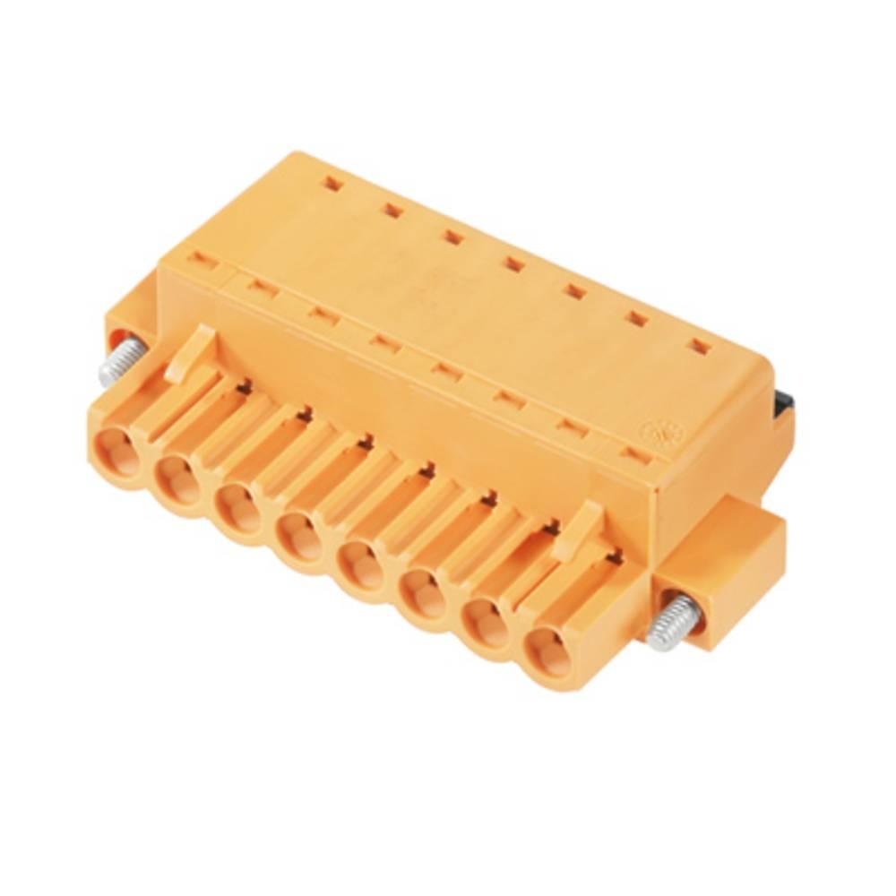 Vtični konektor za tiskana vezja oranžne barve Weidmüller 1013140000 vsebuje: 36 kosov