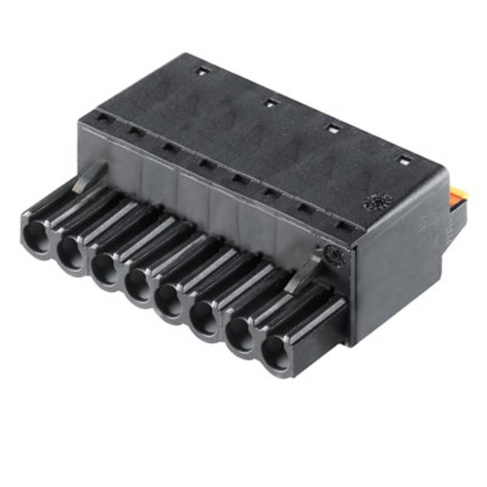Vtični konektor za tiskana vezja črne barve Weidmüller 1017720000 vsebuje: 60 kosov