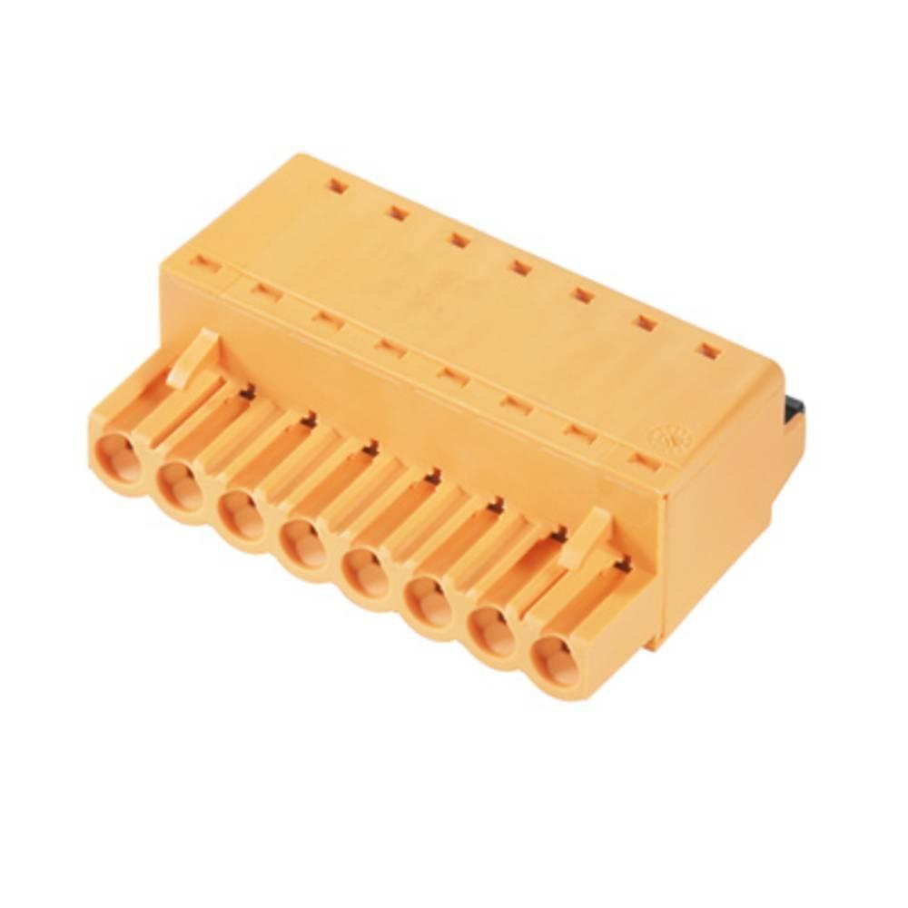 Vtični konektor za tiskana vezja oranžne barve Weidmüller 1013710000 vsebuje: 90 kosov