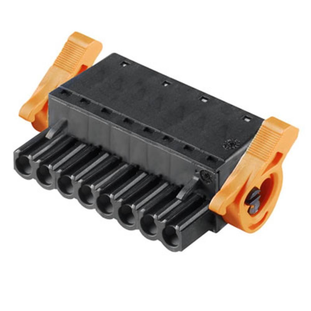 Vtični konektor za tiskana vezja črne barve Weidmüller 1016190000 vsebuje: 42 kosa