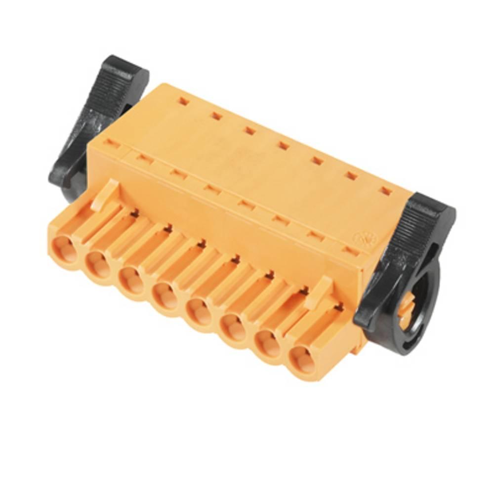 Vtični konektor za tiskana vezja oranžne barve Weidmüller 1016470000 vsebuje: 18 kosov