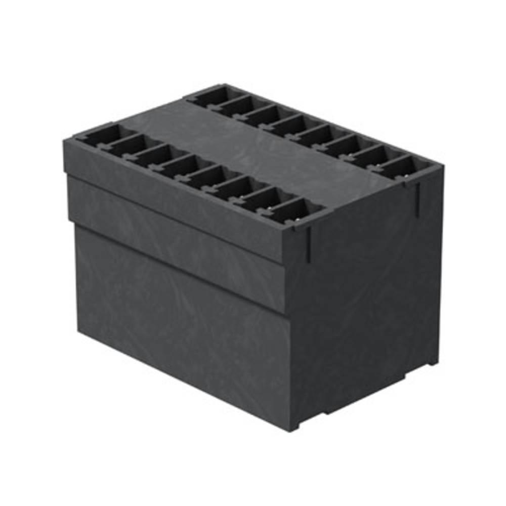 Vtični konektor za tiskana vezja črne barve Weidmüller 1031020000 vsebuje: 50 kosov
