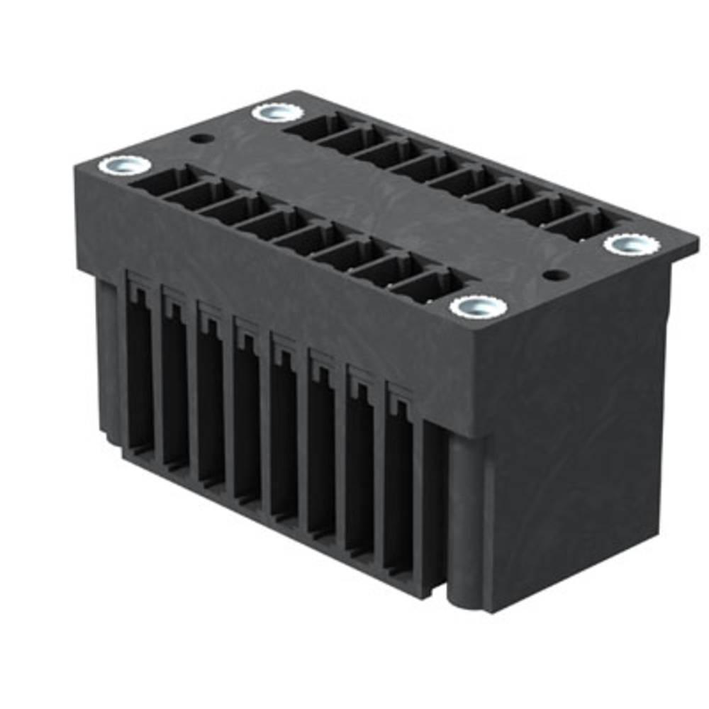 Vtični konektor za tiskana vezja črne barve Weidmüller 1030830000 vsebuje: 50 kosov