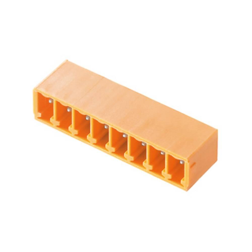 Vtični konektor za tiskana vezja oranžne barve Weidmüller 1037620000 vsebuje: 50 kosov