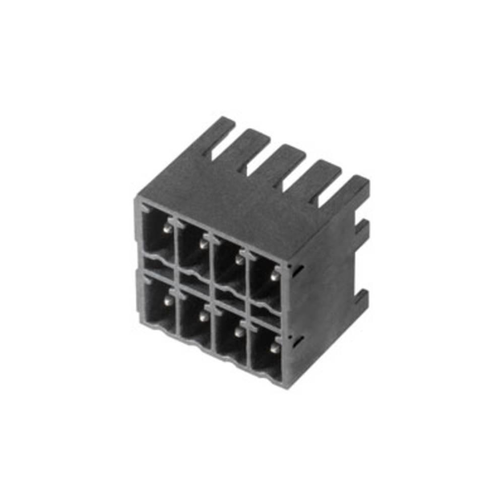 Vtični konektor za tiskana vezja črne barve Weidmüller 1038970000 vsebuje: 50 kosov