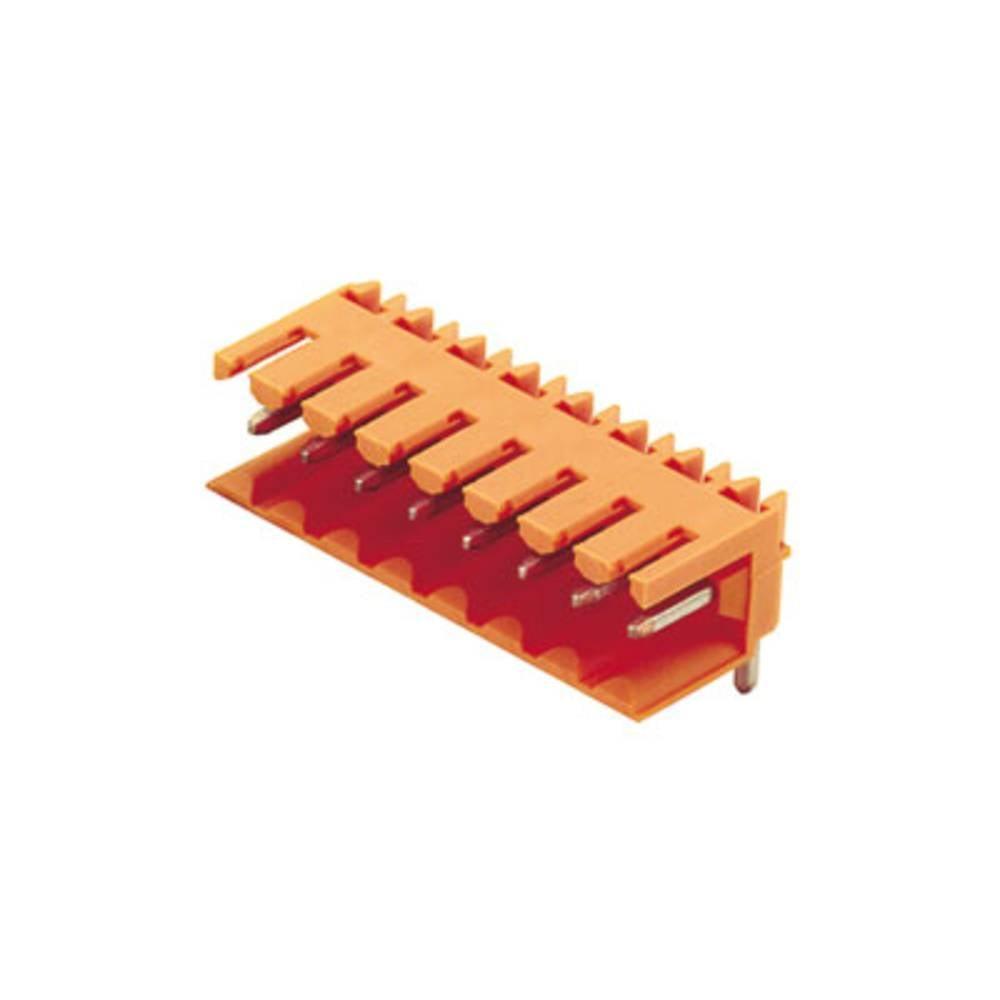 Vtični konektor za tiskana vezja oranžne barve Weidmüller 1597280000 vsebuje: 50 kosov