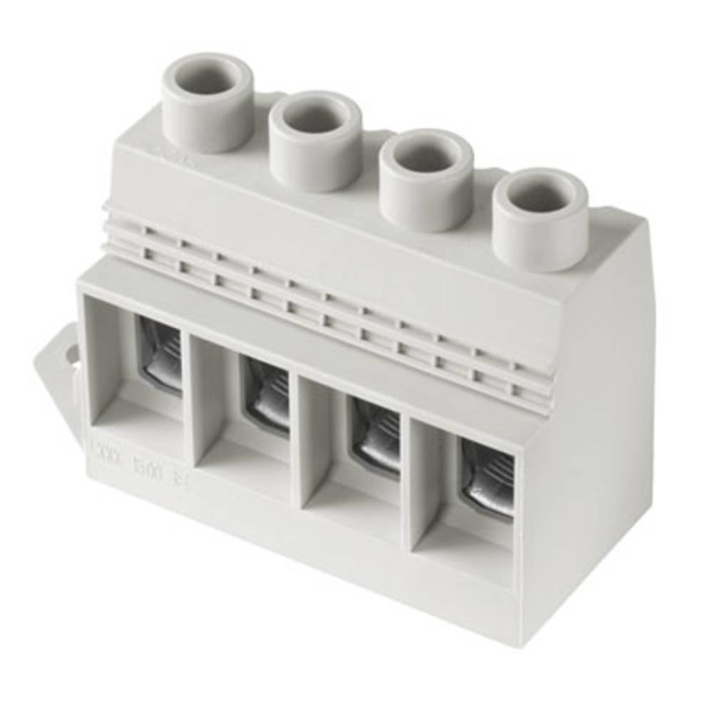 Skrueklemmeblok Weidmüller LXXX 15.00/03/90FL 4.5SN GY BX 35.00 mm² Poltal 3 Grå 10 stk