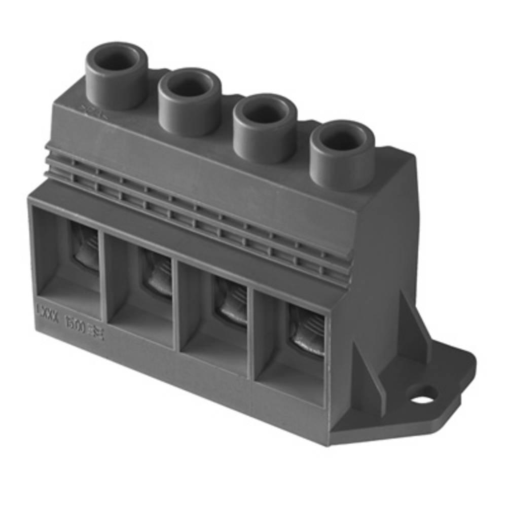 Skrueklemmeblok Weidmüller LXXX 15.00/03/90FR 4.5SN BK BX 35.00 mm² Poltal 3 Sort 10 stk