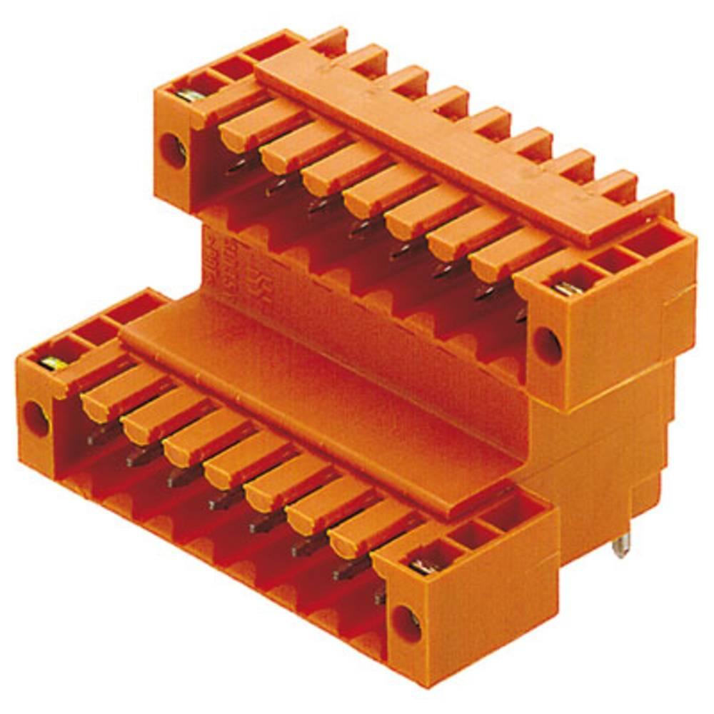 Vtični konektor za tiskana vezja oranžne barve Weidmüller 1642440000 vsebuje: 10 kosov