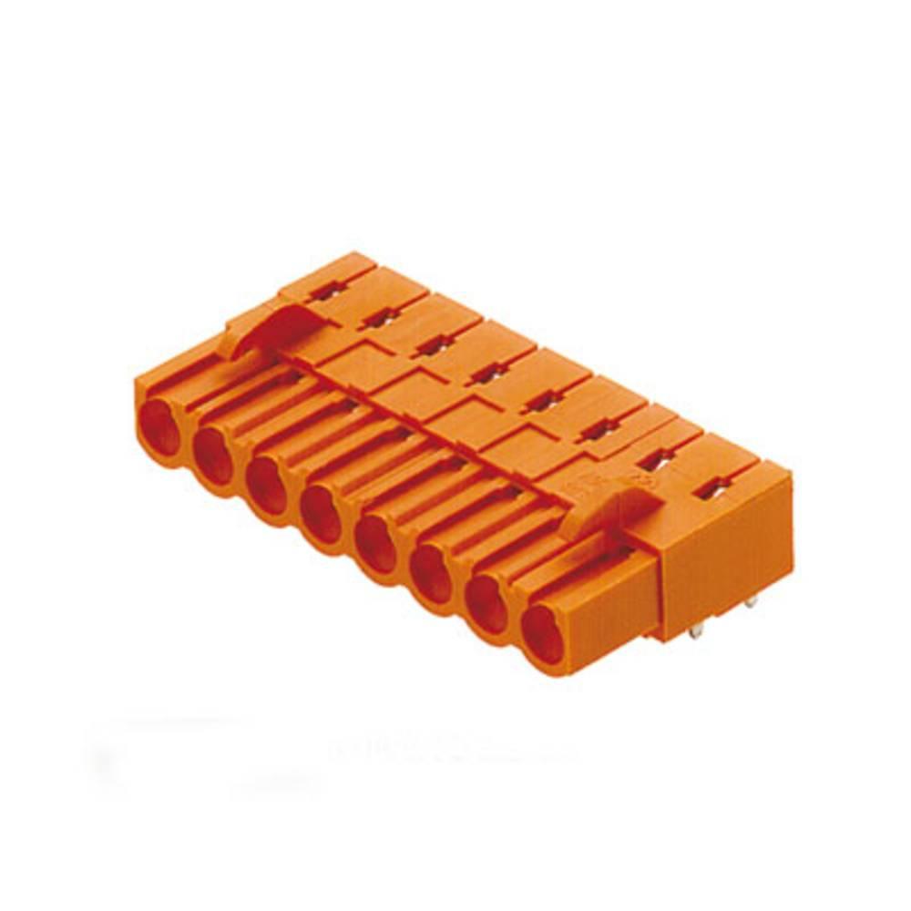 Vtični konektor za tiskana vezja oranžne barve Weidmüller 1682540000 vsebuje: 54 kosi