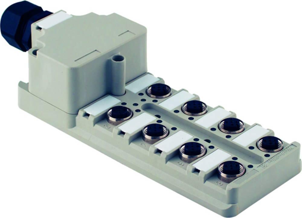Sensor/aktorbox passiv M12-fordeler med metalgevind SAI-4-M 8P M12 UT 1807641000 Weidmüller 2 stk