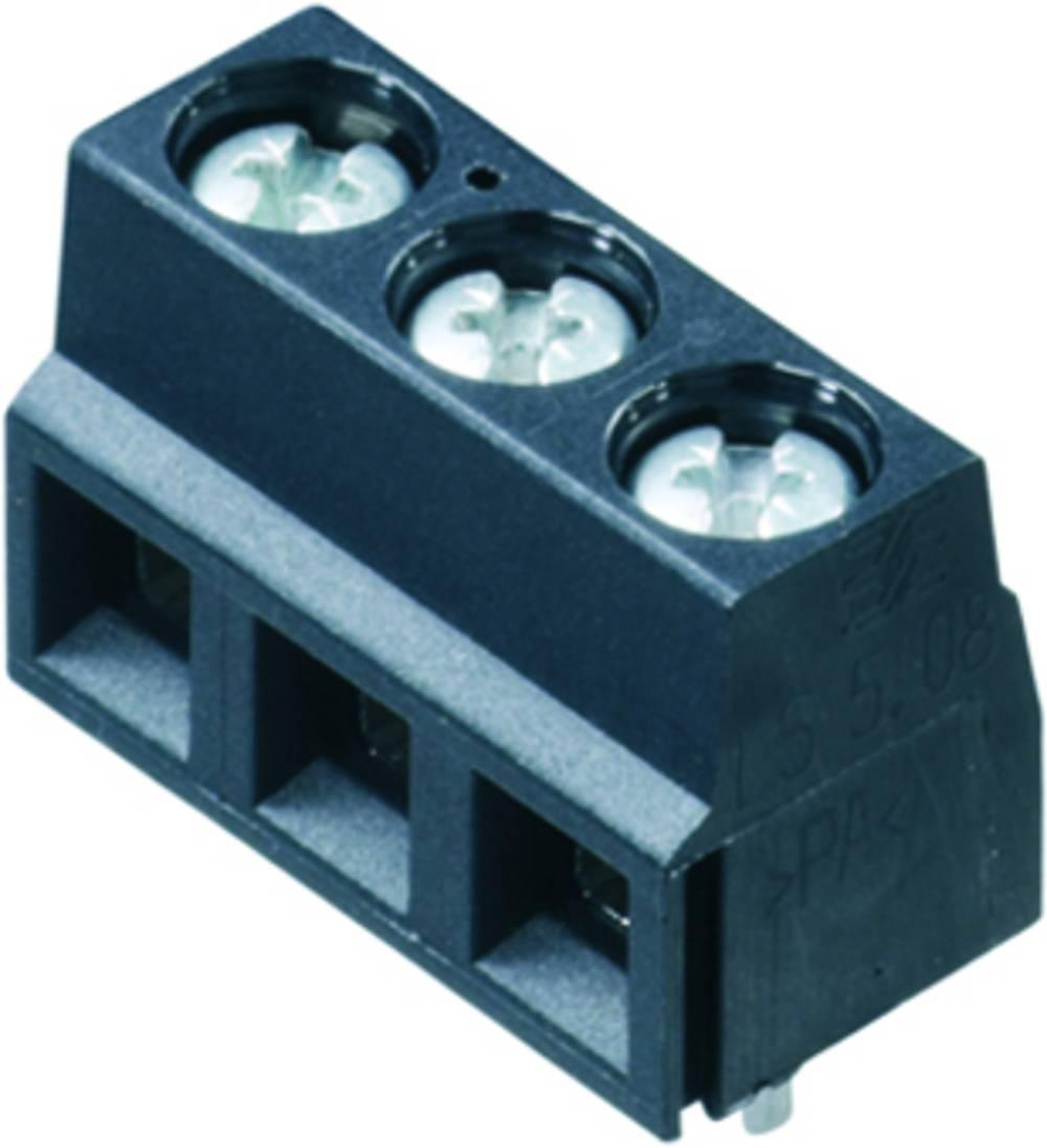Skrueklemmeblok Weidmüller LS 5.08/05/90 3.5SN BK BX 1.50 mm² Poltal 5 Sort 100 stk