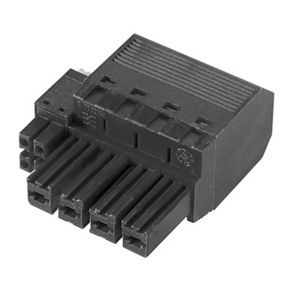 Tilslutningskabinet-kabel BV/SV Samlet antal poler 4 Weidmüller 1156470000 Rastermål: 7.62 mm 30 stk