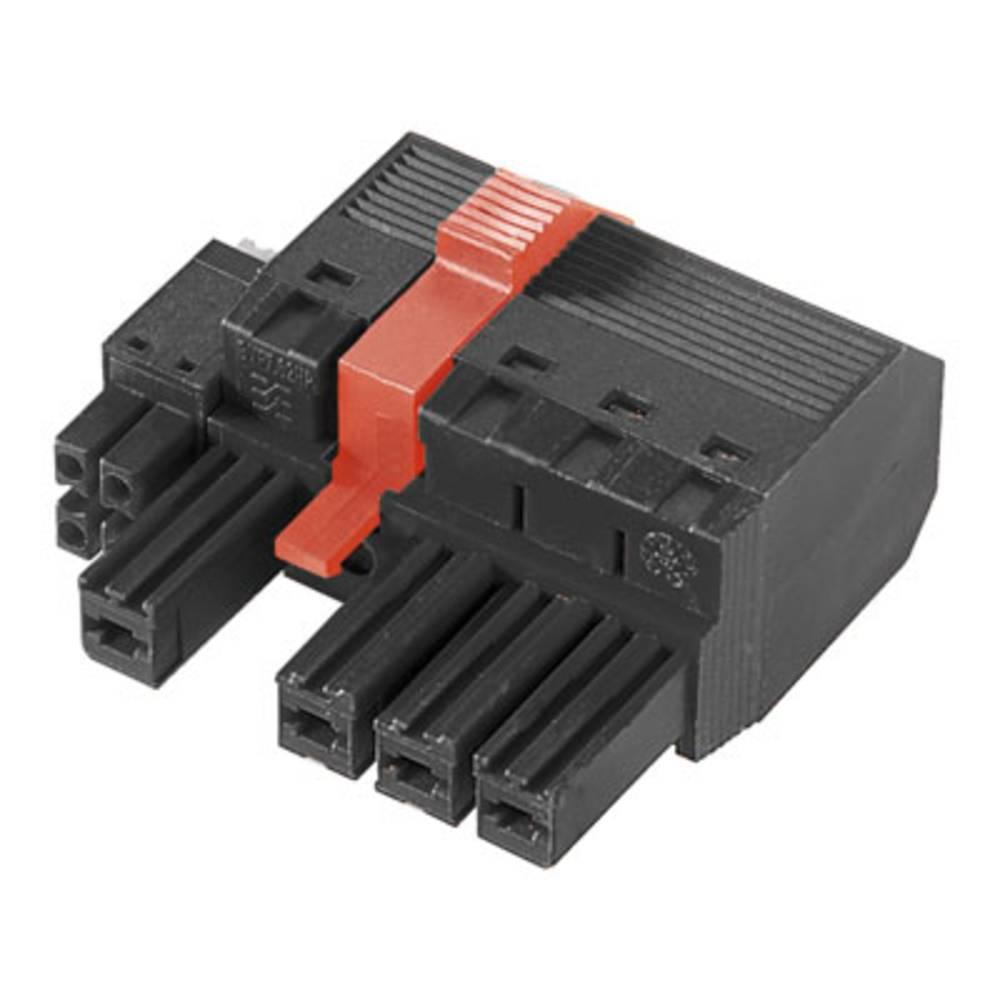 Tilslutningskabinet-kabel BV/SV Samlet antal poler 5 Weidmüller 1157300000 Rastermål: 7.62 mm 25 stk