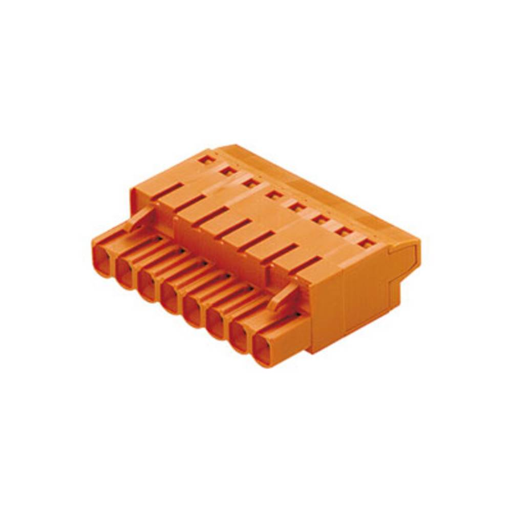 Tilslutningskabinet-kabel BL/SL 5.08 Samlet antal poler 9 Weidmüller 1500210000 Rastermål: 5.08 mm 36 stk